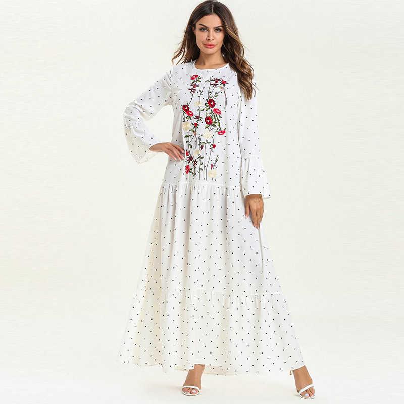 Белый абайя Дубай, Турция исламский, мусульманский платье хиджаб восточный женский халат женский jilбаб Caftan Рамадан халат Elbise Giyim ислам ic одежда
