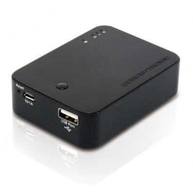 Lecteur De cartes Sd à batterie externe 5000mha Conceptronic lecteur sans fil