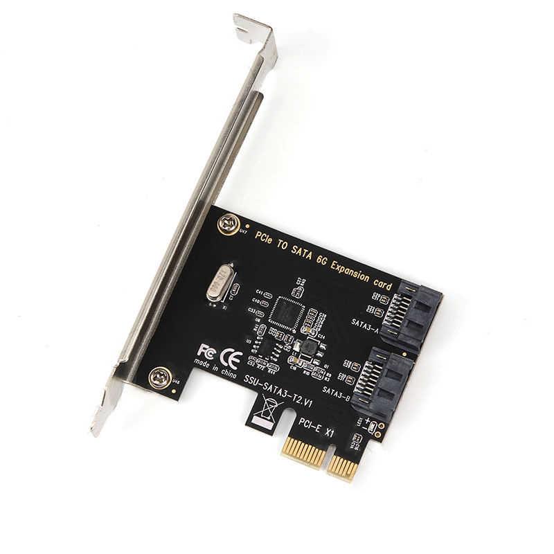 מארוול 88SE9215 PCIE לsata כרטיס PCI-E מתאם PCI Express כדי SATA3.0 הרחבת כרטיס 4 יציאת SATA III 6G עבור SSD HDD IPFS כרייה