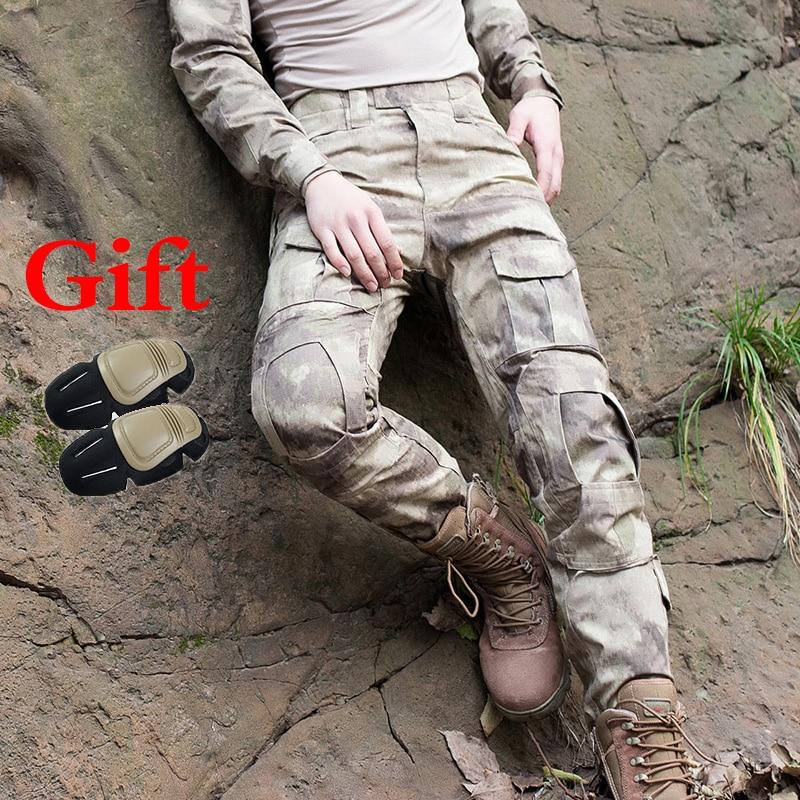 Colto Uomini Pantaloni Tattici Rovine Camouflage Caccia Pantaloni Militari Pantaloni Da Trekking Sport Addestramento Al Combattimento Pantaloni Con Ginocchiere Pantaloni