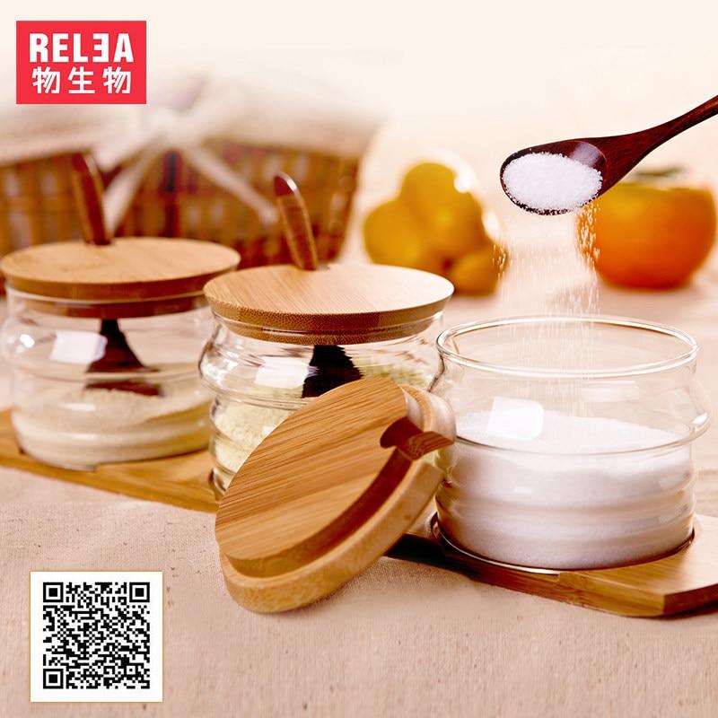 창조적 조미료 유리 병 유용한 Cruet 향신료 조미료 용기 조미료 항아리 주방 용품 조미료 상자