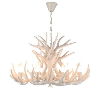 Вешалка рога оленя люстры украшения для Рамадана огни американский кантри Лофт Декор свет