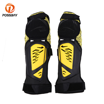 POSSBAY Outdoor Sports Knee Pad Protective Gear Scooter Motocross Knee Guard Off Road Cycling Riding Kneepad Protector Man Women