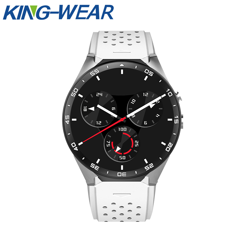 Original KINGWEAR KW88 3G WIFI GPS Bluetooth Smart Men Watch Android 5.1 MTK6580 smart Clock 2.0MP Camera Smartwatch for iPhone