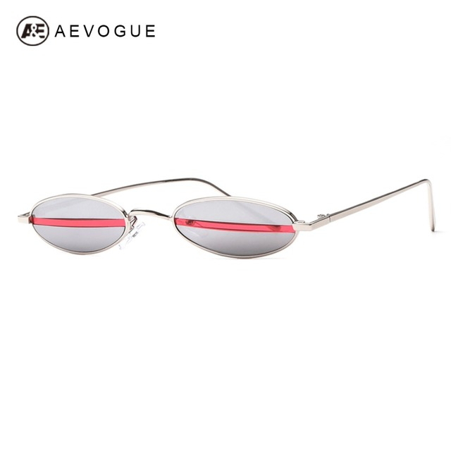 df466fc478242 AEVOGUE Sunglasses For Women Small Oval Alloy Frame Candy Color Points  Stripe Lens Unisex Girls Cute Sun Glasses UV400 AE0601