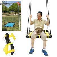 Homdox New Outdoor Comfort Durability Hanging Chair Large Hammock Chair Net Square Swing Kit N40