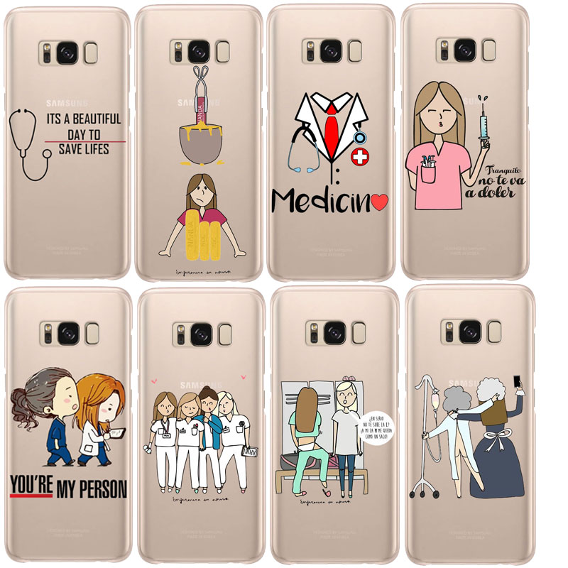 Cellphones & Telecommunications Spain Cute Cartoon Medicine Nurse Doctor Dentist Soft Tpu Case For Samsung S6 S7edge S8 S9plus Note9 Clear Silicone Coque Cover Fitted Cases