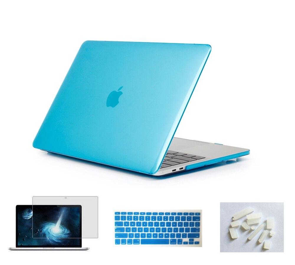 Матовый чехол для ноутбука Apple Macbook Pro retina Air 11 12 13 15 дюймов для Macbook Air13 A1932, Pro 13 15 A1989 A1990 - Цвет: Sky Blue