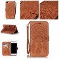 Campanula flor del teléfono case para apple iphone 5 5s se 6 6 s 7 plus book style folio titular de la tarjeta monedero de lujo de la contraportada coque