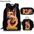 Школьная сумка Nopersonality для детей  симпатичная школьная сумка золотого ретривера для мальчиков  школьный рюкзак с Мопсом для собак  школьная ...