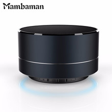 Mambaman AU10 Mini Bluetooth Protable Speaker computer speakers LED Light support TF Radio FM bluetooth receiver for xiaomi PC