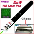[RedStar]5mw 103 Green Red Laser pen  AAA 7# Battery laser pointer Starry image cap Gift set include Retail Metal box