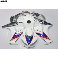 Pre Drilled ABS Fairing kit Bodywork White Red for Honda CBR1000RR 2012 2013 NEW