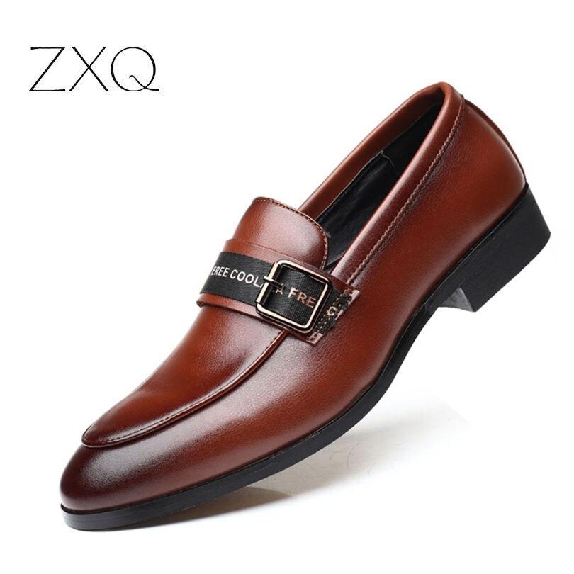 Plus Größe 38-48 Top Qualität Männer Spitz Schuhe Patent Leder Mit Schnalle Luxus Männer Kleid Schuhe Slip auf Hochzeit Schuhe