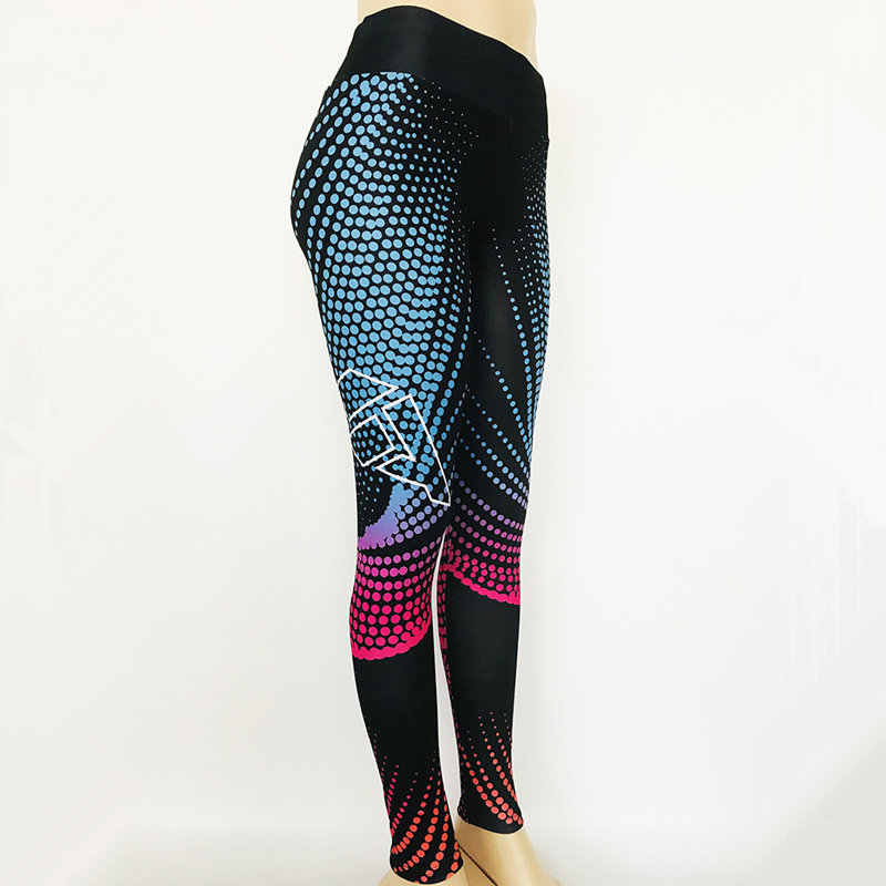 ผู้หญิงกางเกงโยคะ 3d พิมพ์การบีบอัดความยืดหยุ่นกีฬาฟิตเนส Leggings Tights ผู้หญิงกีฬาผู้หญิงกางเกง