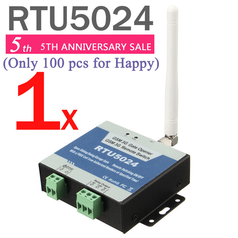 RTU5024 GSM Gate Opener Relay Switch Remote Access Control By Free Call iphone and android app support