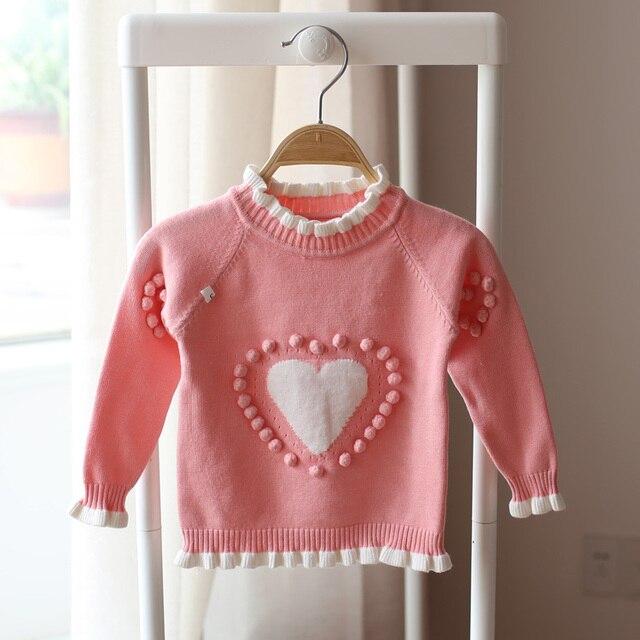 2017 весной и осенью дети любят свитер новорожденных девочек мода милые красивые ребенка свитер хлопка трикотажные свитера