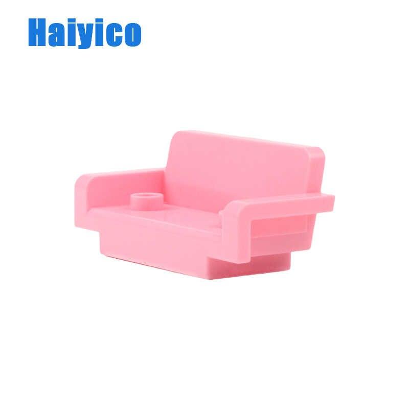 Grandes bloques de construcción accesorios de Casa compatible Duplos niños DIY juguete grande sofá Mesa armario silla cocina regalo