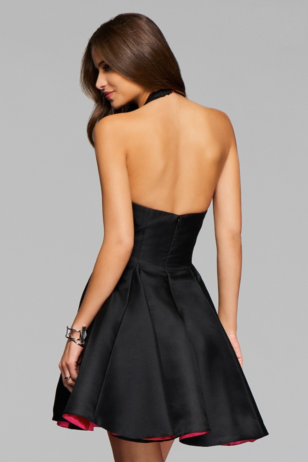 Short Little Black Cocktail Party Kleider Neckholder Backless ...