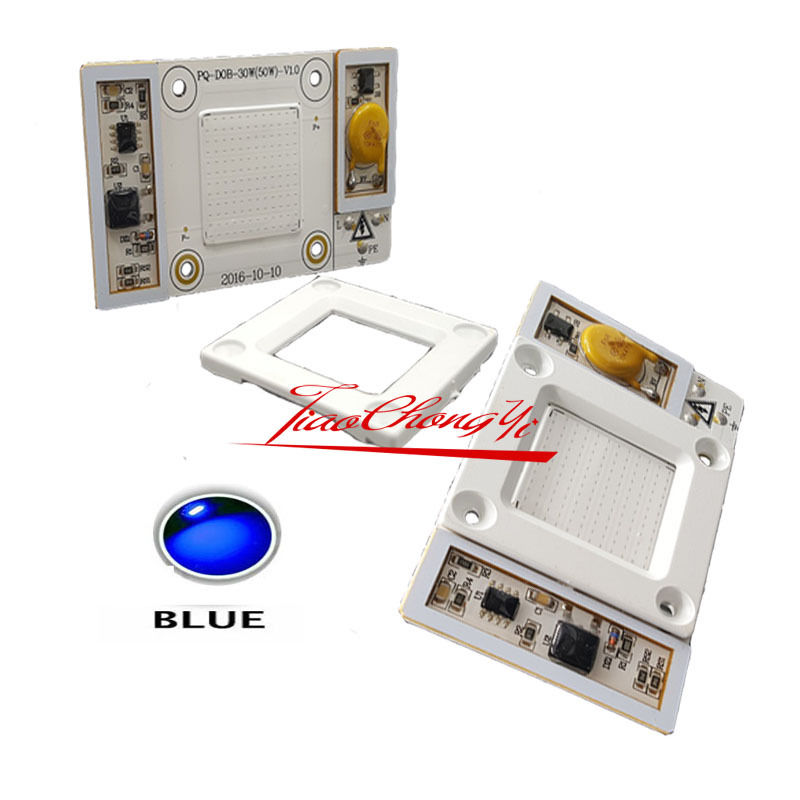 NEW 10pcs AC110V High Power 50W led chip built in driver Royal Blue 445 450nm LED