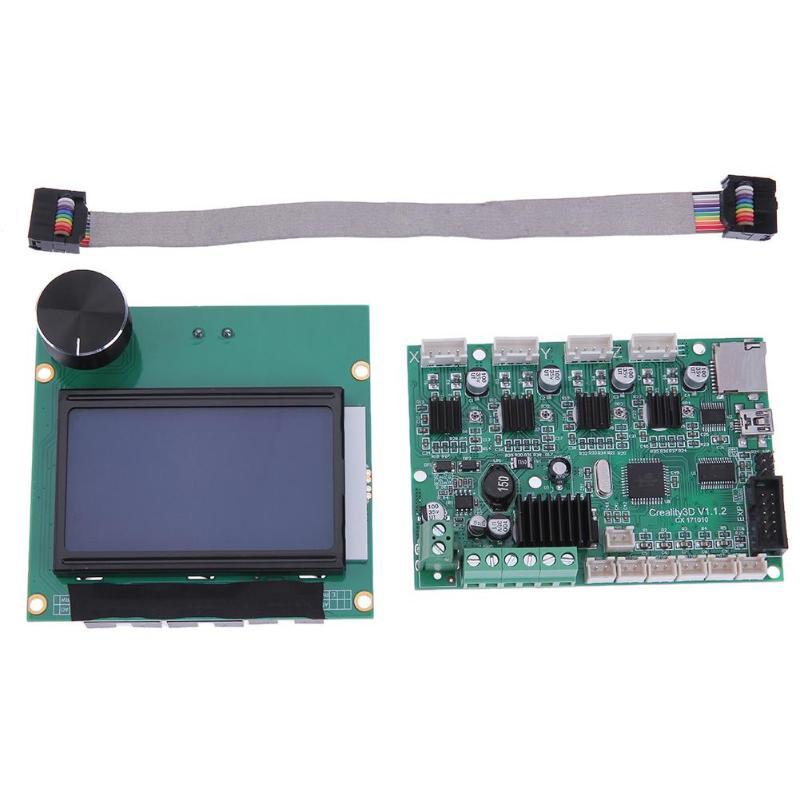 12864 écran LCD + carte mère de contrôle pour les pièces d'imprimante 3D Creality CR-10