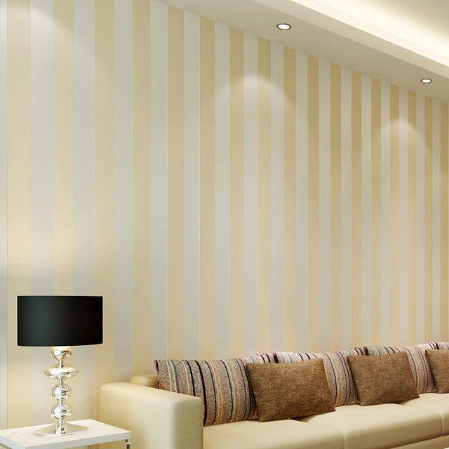 Moderne Stil Glitter Silber Streifen Vlies Tapete Wand Abdeckt ...