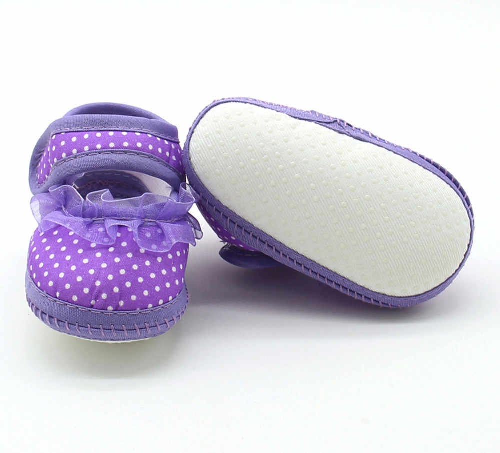 Zapatos de bebé niñas pequeñas punto encaje suave suela precaminante cálido Casual zapatos planos recién nacido primer caminante suela antideslizante zapatos @ 40