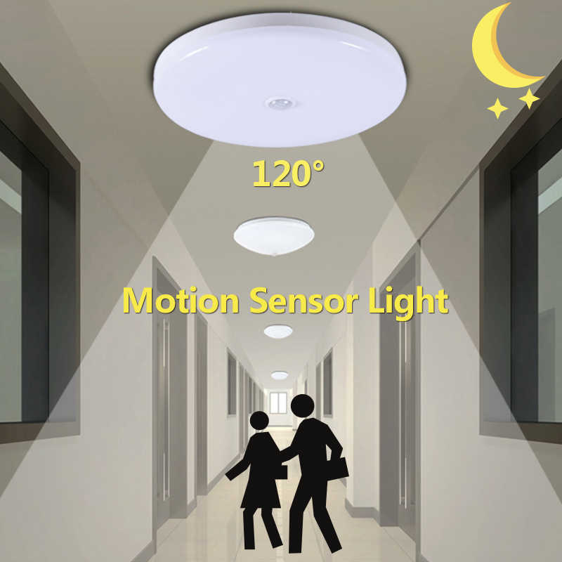 Smart MOTION SENSOR Light 12 W 18 W LED Malam Lampu Lampu 220 V Infra Merah PIR Sensor Lampu LED untuk rumah Auto Turn On/Off Putih Dingin