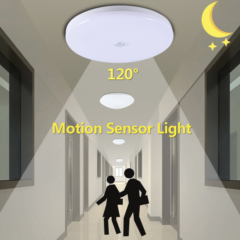 Smart Motion Sensor Light 12W 18W LED Night Light Lamp 220V Infrared PIR Sensor Led Lights For Home Auto Turn On/Off Cold White