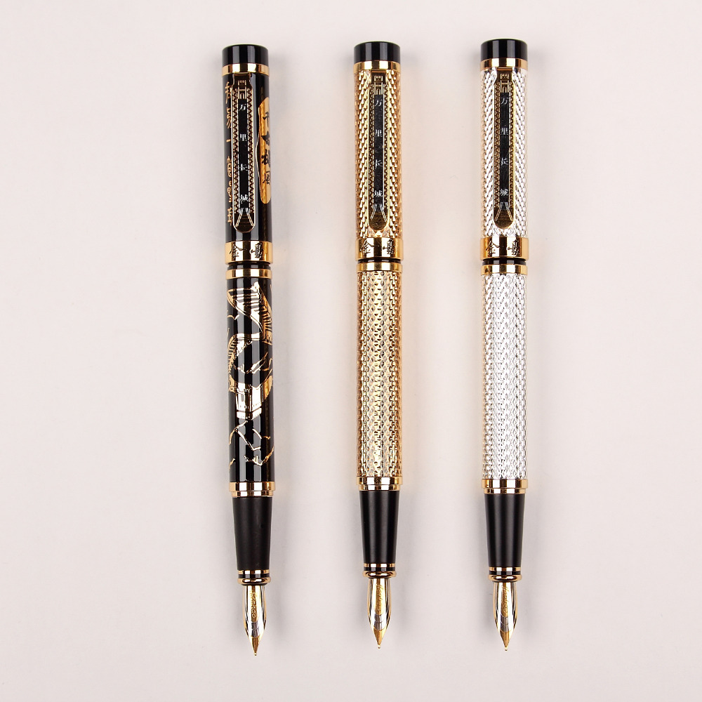 Fountain Pen or RollerBall pen Great Wall series   standard pen office and school stationery 12 pcs/lot Free Shipping 8pcs lot wholesale fountain pen black m 14 k solid gold nib or rollerball pen picasso 89 big executive stationery free shipping
