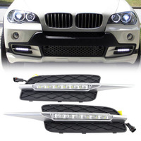 High Quality DRL For BMW X5 E70 2007 2008 2009 2010 Daytime Running Lights Daylight Car