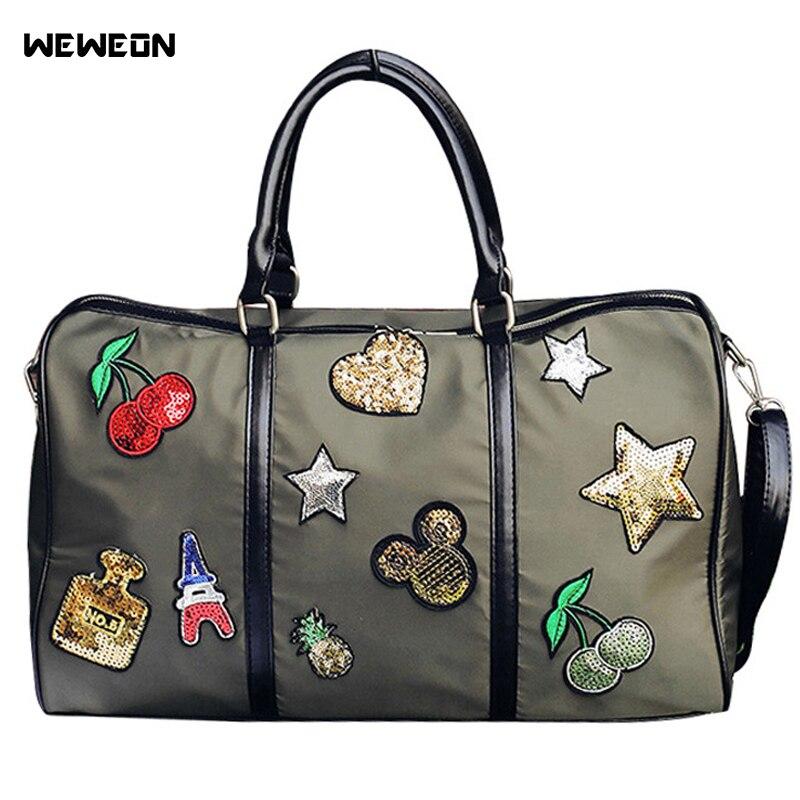 Gym Bag Stylish: Star Pattern Oxford Sport Bag Women Light Gym Bags For