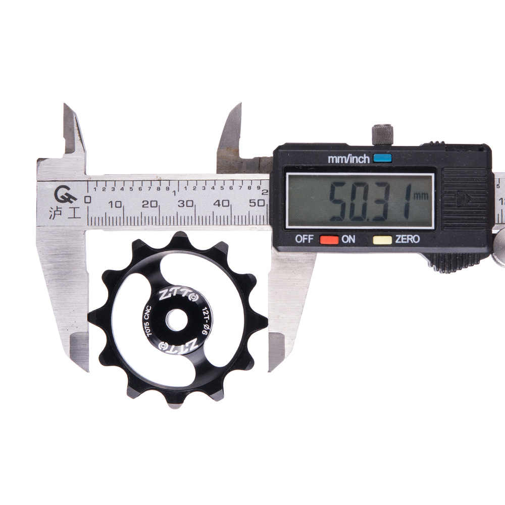 Ztto 12 t mtb desviador traseiro da bicicleta estreito largo jockey roda rolo de cerâmica rolamento polia cnc estrada bicicleta guia 4mm 5mm 6mm