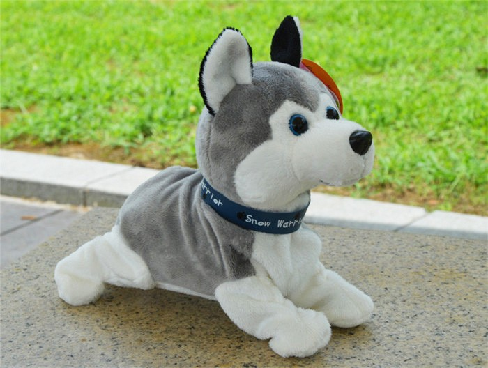 Electronic Toys Funny Sound Control Electronic Pet dog plush toy Siberian husky toys for children Birthday Gifts