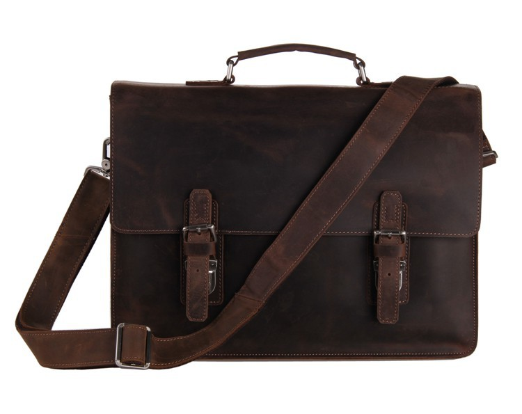 Vintage mens bag genuine crazy horse leather men bag cowhide leather briefcase business laptop bag men messenger bags #VP-J7223 high quality vintage genuine leather briefcase men cowhide 14 laptop bag portfolio messenger bags for macbook for ipad