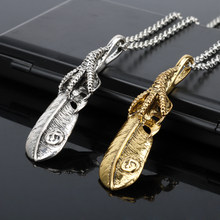 Nieuwe Collectie Takahashi Goro Veer Ketting Goro 'S Titanium Sieraden Ketting Collier Hip Hop Accessoires(China)