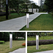 Tonybuny Stainless Steel led lawn light outdoor garden post decorative bollard landscape lamp