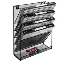 Настенная черная металлическая стойка для журналов с 6 разъемами/документ(есть коробка
