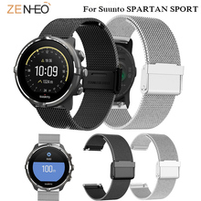 Simple Milanese Loop Strap For Suunto SPARTAN SPORT watchband 24mm Stainless steel Wrist Straps Replacement Wristband