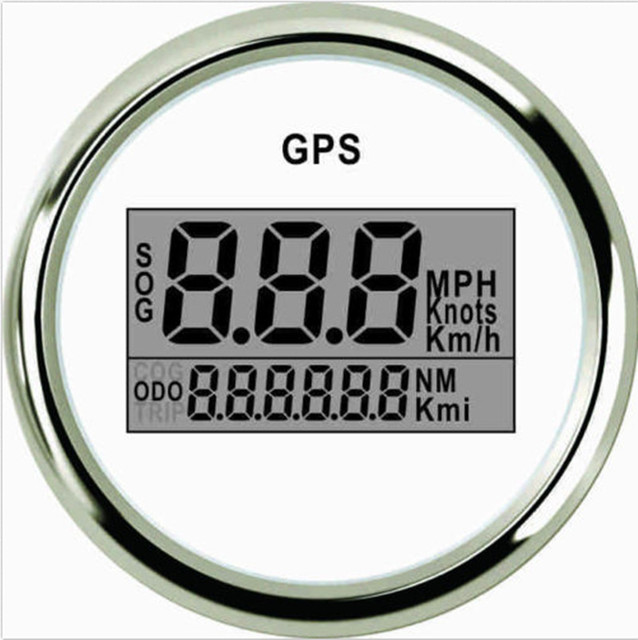 52mm blanc num rique gps compteur de vitesse speedo plg2 bs gps pour bateau camion voiture yacht. Black Bedroom Furniture Sets. Home Design Ideas