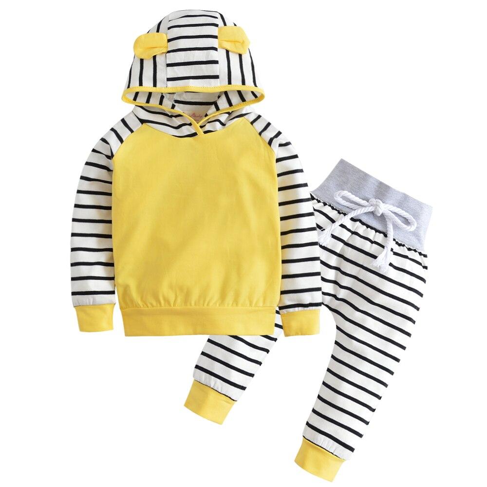 Autumn Baby Boy Clothing Set Long Sleeve Warm Hooded T shirt Pants Infant pcs suit