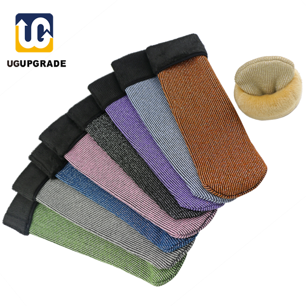 Ug 1pair Winter Warm Men Women Thermal Long Ski Socks Thicker Cotton Sports Snowboard Hiking Socks Plus Velvet Socks