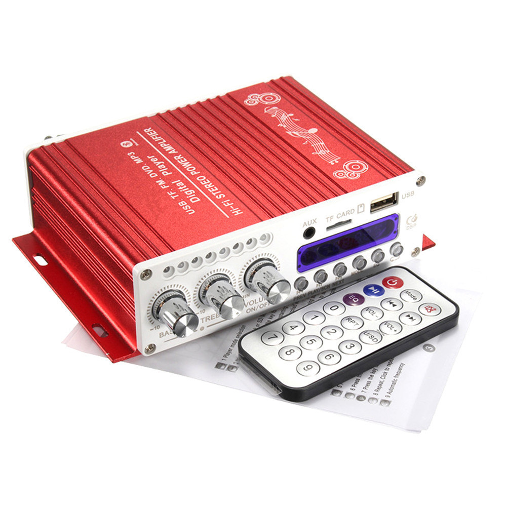 Car Amplifier V40 Hi Fi Stereo V10 Bluetooth Super Bass Audio Power 13w Circuit Using Ta8200ah Usb With Romote Control Songs Track In Amplifiers From Automobiles