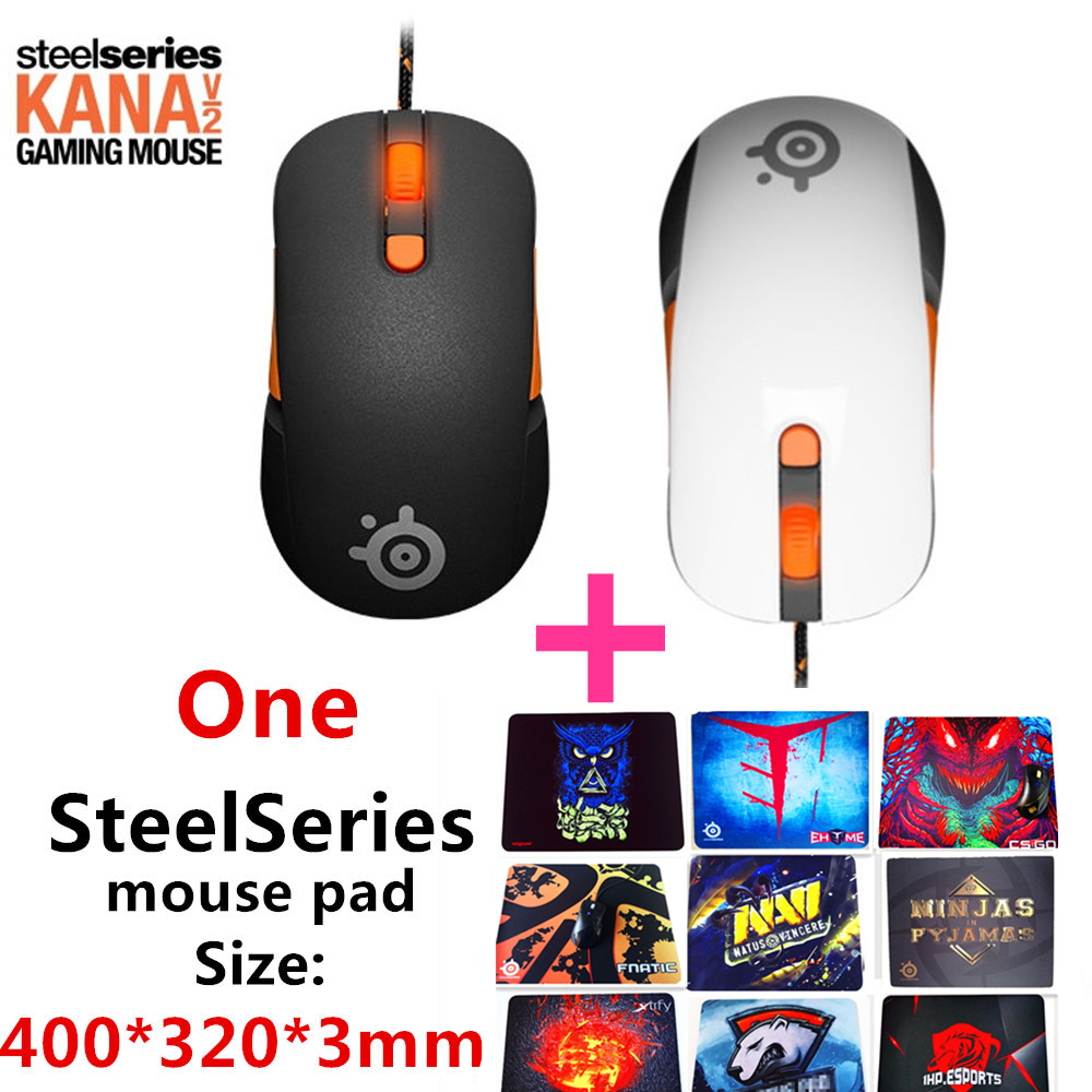 все цены на Free shipping original SteelSeries Kana V2 mouse Optical Gaming Mouse & mice Race Core Professional Optical Game Mouse онлайн