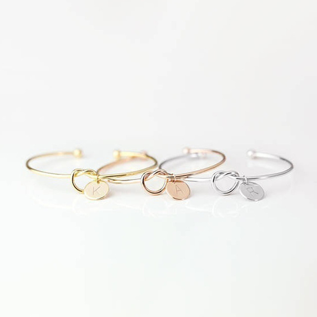 New Fashion women men lovers bracelet Hot Rose Gold/Silver Alloy Letter Charm Bracelet Female Personality Jewelry 2
