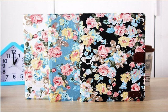 Vintage Flower Pattern Leather Case Cover for iPad Air 5