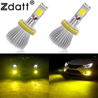 2Pcs H8 H9 H11 Led Fog Lamp 60W 6000LM Car Led Light Golden Yellow 3000K