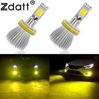 2Pcs H8 H9 H11 Led Fog Lamp 60W 6000LM Car Led Light Golden Yellow 3000K