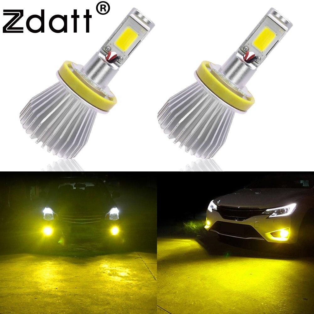 Zdatt 2Pcs H8 H9 H11 Led Fog Lamp 60W 6000LM Car Led <font><b>Light</b></font> 12V Kit Golden Yellow 3000K Strobe Flash <font><b>Light</b></font> Automobiles