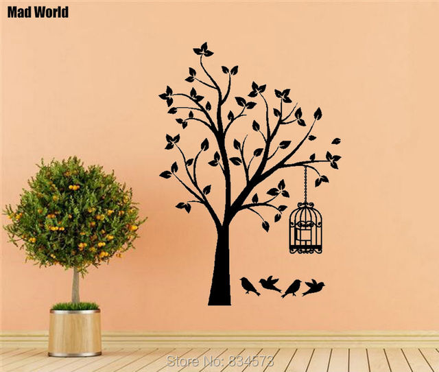 Unique Bird Cage Wall Decor Pattern - Wall Art Collections ...